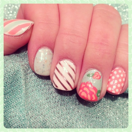 sugarsugarcg's spring tips! Show us your spring mani & you could be featured on our Pinterest and Instagram! Just use #SephoraSpring