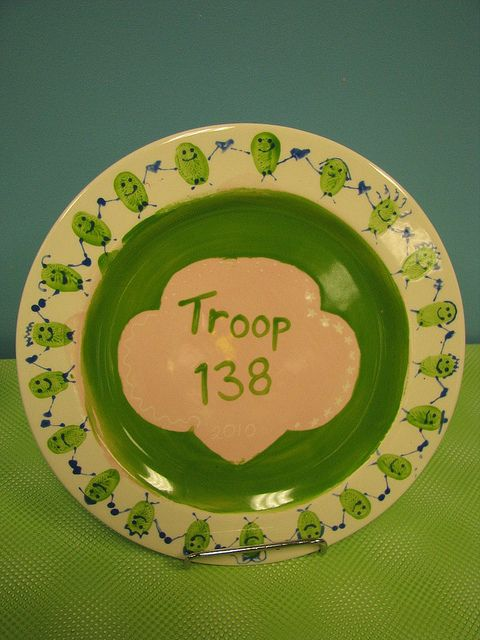 girl scout plate... earn your ceramics badge @ppikasso