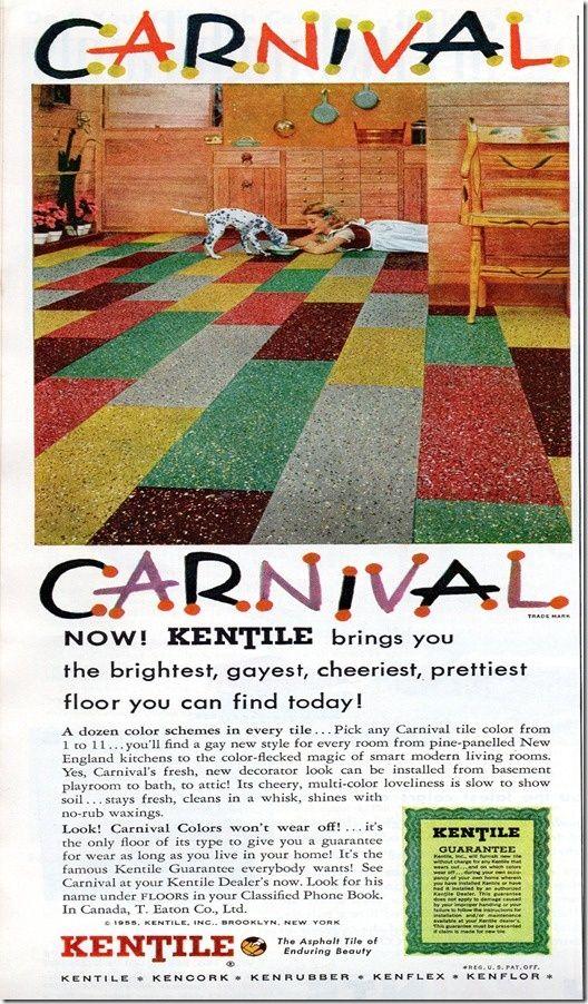 Vintage flooring designs on the