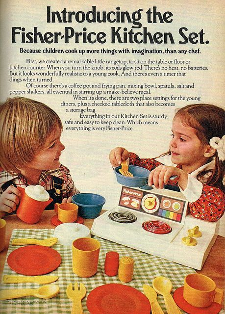 Introducing the Fisher-Price Kitchen Set. #vintage #1970s #1980s #toys