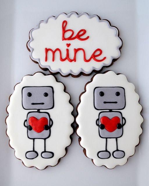 Cute cookies! #cookies #robot #cute #kawaii #food