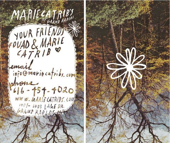 Marie Catrib's Grand Rapids Business Cards
