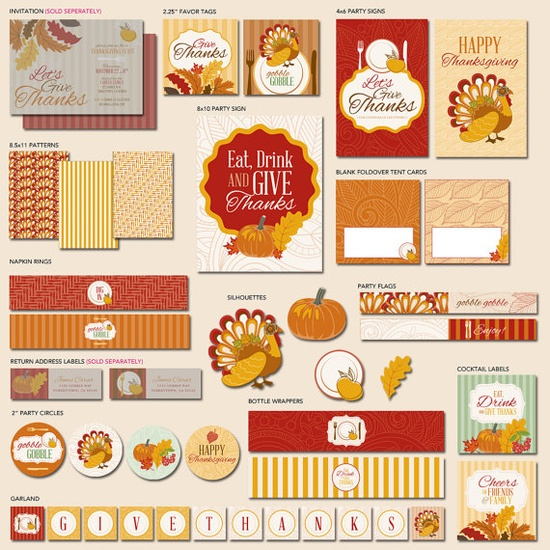 Give Thanks Thanksgiving Party  The Hostess PRINTABLE by HWTM!