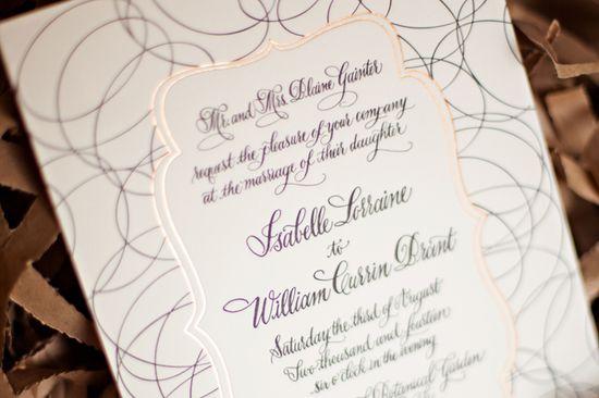 gorgeous wedding invite :: designgirl.