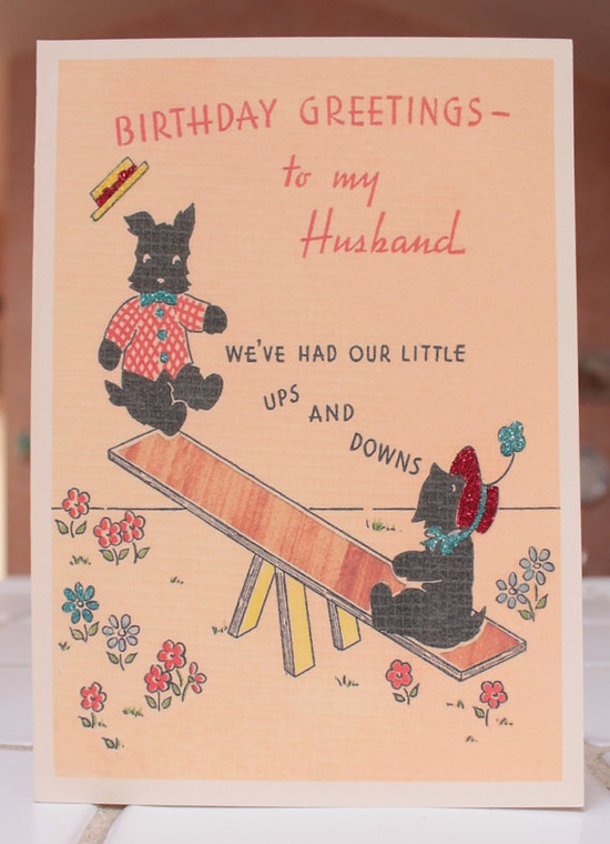 Scottish Terrier Birthday Card to Husband by TheReimaginedPast, $6.00