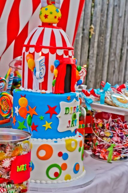 Awesome carnival cake with great fondant details!