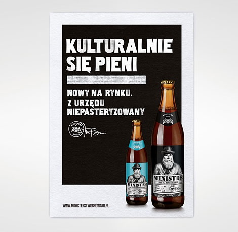 Minister Beer Advertising