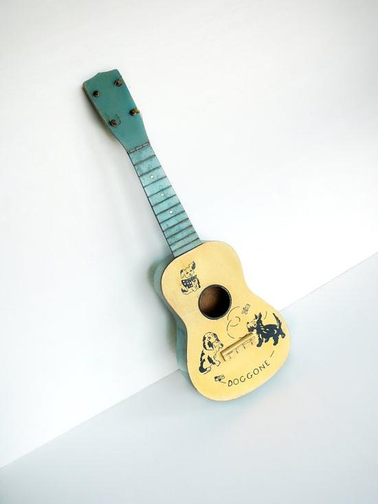 Vintage toy guitar