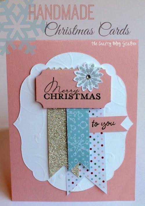 Handmade Christmas Cards thecraftyblogstal...
