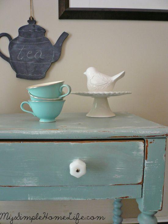 Simple Home Life: Shabby Chic Table - ideasforho.me/... -  #home decor #design #home decor ideas #living room #bedroom #kitchen #bathroom #interior ideas