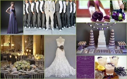 #purple #grey #gray #wedding #lavender