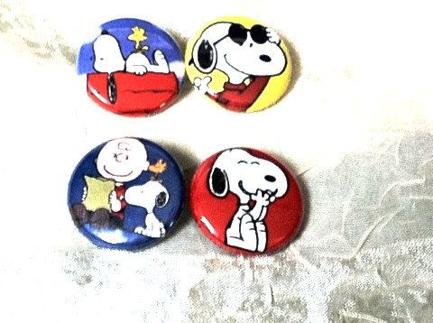 #Vintage #Peanuts Button #Earrings #Upcycled  from #1970s lapel pins by NorthCoastCottage, $19.00 Soooo cute! Great for pediatric #nurses or anyone who works with #children. Very distracting because they don't match and you can discuss what these silly #comics characters seem to be up to! Repin if you love #Snoopy !