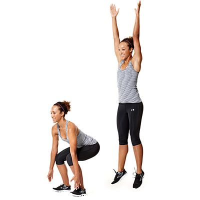These jump ups will get your heart racing and help burn calories!