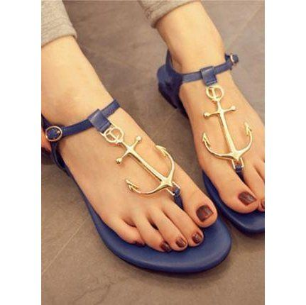Navy Anchor Thong Sandals ($24.99)