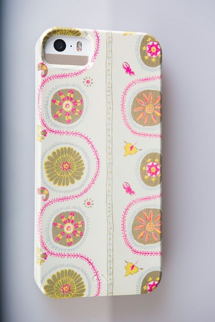 My new iPhone cover in my Suzani in Pink/taupe - such fun!