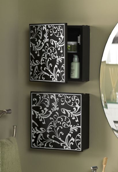 Small Bathroom Wall Storage Cabinet Unit, this is way more attractive than a medicine cabinet.