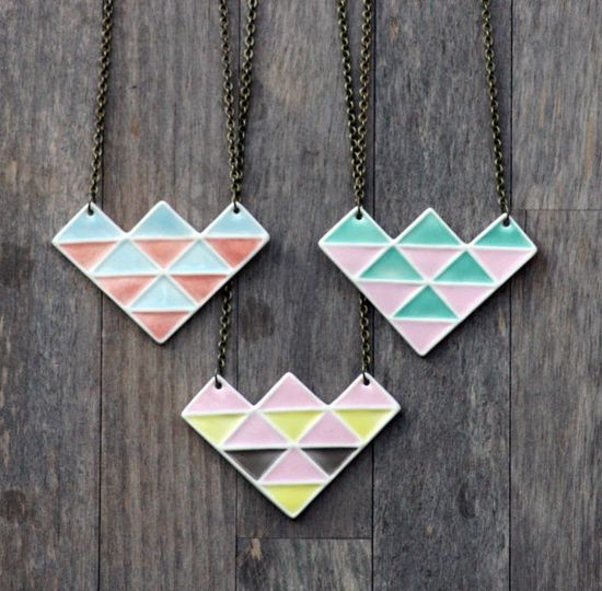 geometric necklace by Me Me Me