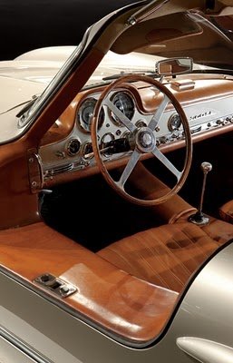 VIP inspiration in old car: wood tone, white enamel, dials