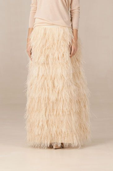 Mossimo Dutti feather skirt.