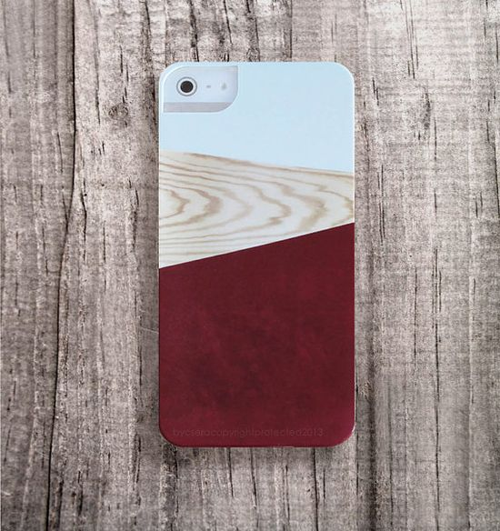 TREND iPhone5 Case BURGUNDY iPhone 4 Case Wood by casesbycsera, $29.99