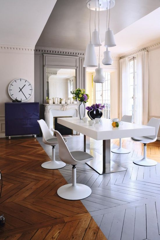 love the chevron Wood floor but without the white stripe
