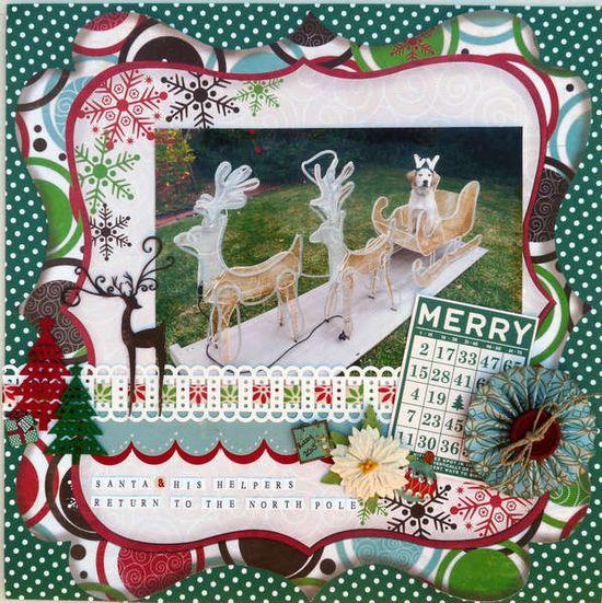 Cute Santa & His Helper Christmas Page...