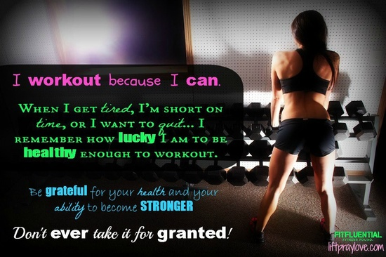 Because you can. #FitFluential