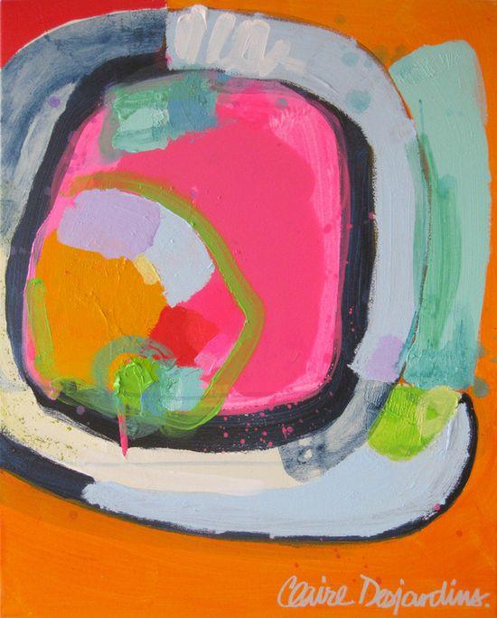 """Saatchi Online Artist: Claire Desjardins; Acrylic, 2012, Painting """"Journalists"""""""