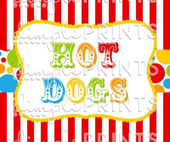 Circus Carnival Big Top Printable Digital Food by Dimpleprints, $8.00