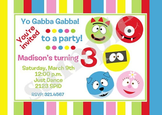 Yo Gabba Gabba invites