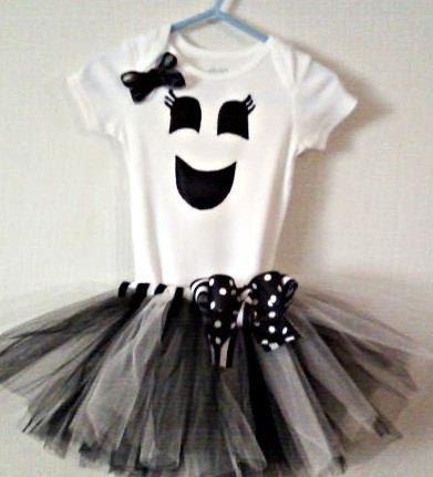 Ghost Tutu Costume. $35.00, via Etsy.