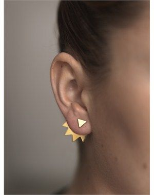 spike back earring