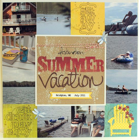 #papercraft #scrapbook #layout for #vacation
