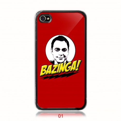 BAZINGA funny geek iPhone 4 4s Case cover black option white case available