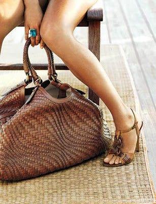 oversized woven handbag