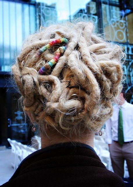 ? #dreads #updo