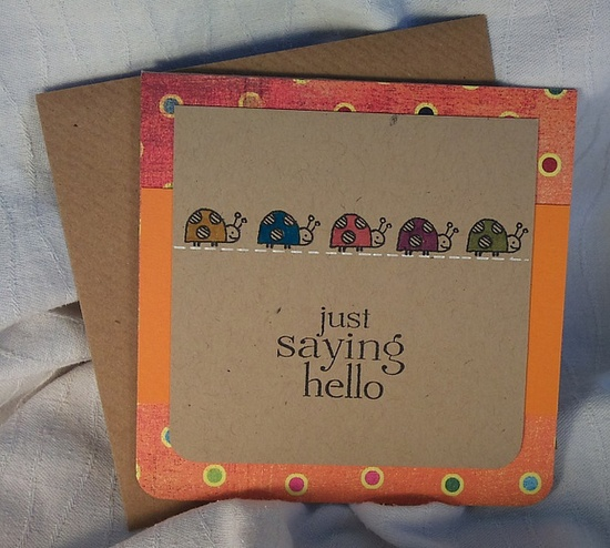 Just Saying Hello #scrapbook #card #stamp #easy
