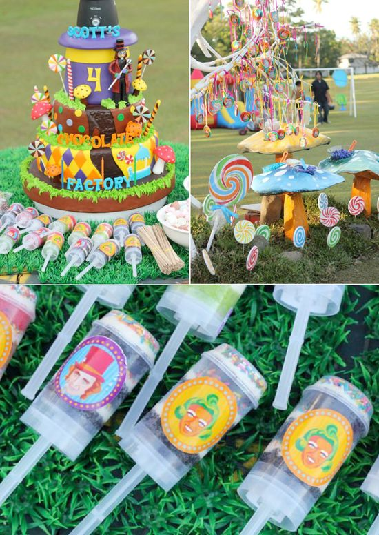 Incredible Willy Wonka themed birtdhay party FULL of ideas! Via Kara's Party Ideas KarasPartyIdeas.com #willy #wonka #themed #birthday #party #ideas #idea #cake #supplies #decorations #games