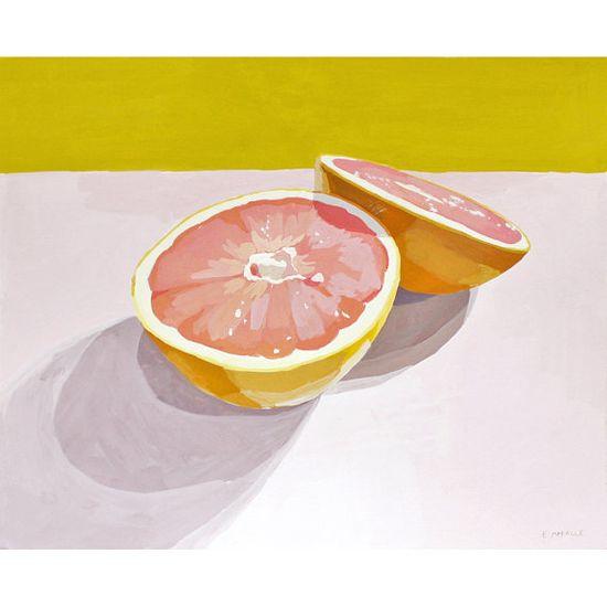 kitchen art - grapefruit print - Grapefruit 12 via Etsy