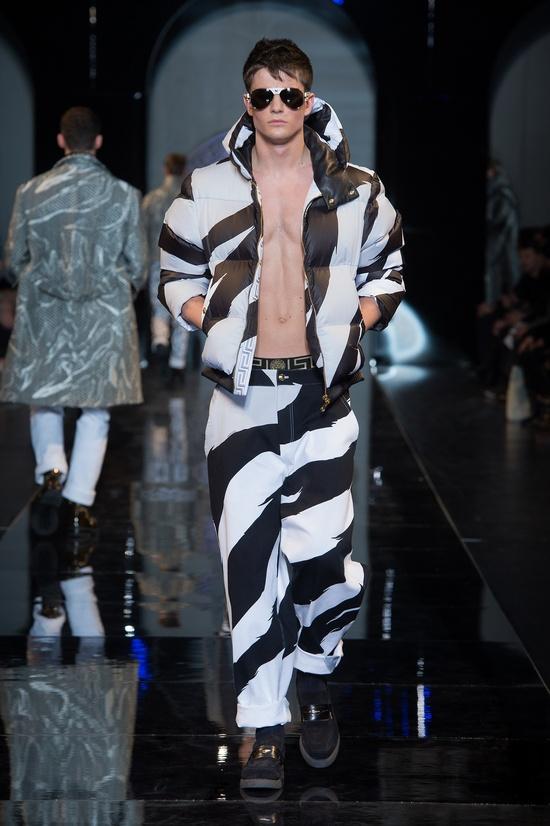 #Bomber#Pants - Versace Men's Fall Winter 2013