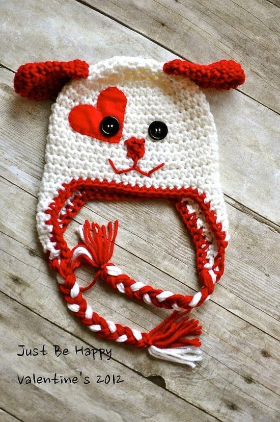 Valentines DOG FLAP HAT