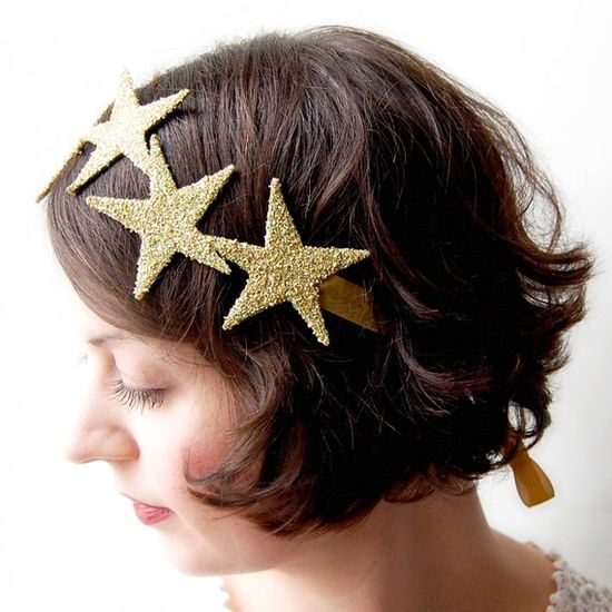 simple & fantastic - glitter gold star headband
