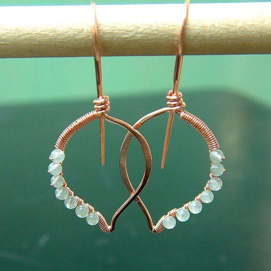 Copper wrapped earrings.