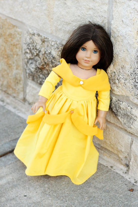 Belle Outfit for American Girl Doll. $22.00, via Etsy.