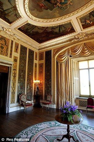 Music room at Highclere Castle.