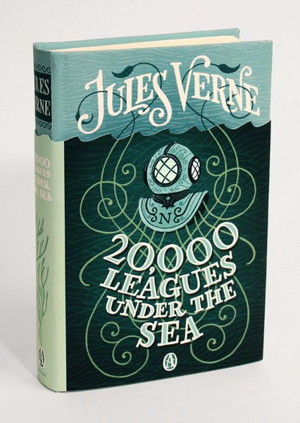 Beautiful cover concepts by Jim Tierney for a Jules Verne book series