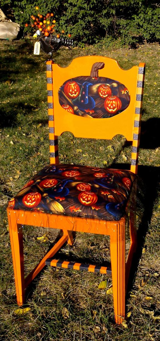 Vintage Halloween Chair
