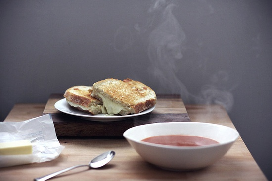 tomato soup and cheese sandwiches by tim robison jr