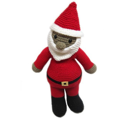santa Stuffed Animal Crochet Pattern By Fresh Stitches!