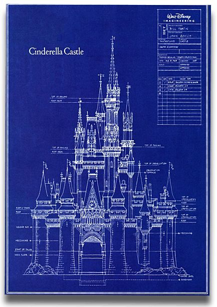 Blue Print Cinderella's castle.....AWESOME!